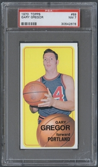 1970/71 Topps Basketball #89 Gary Gregor PSA 7 (NM) *2678