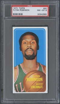 1970/71 Topps Basketball #40 Flynn Robinson PSA 8 (NM-MT) *2685