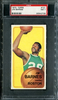 1970/71 Topps Basketball #121 Jim Barnes PSA 7 (NM) *2708