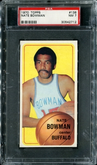 1970/71 Topps Basketball #138 Nate Bowman PSA 7 (NM) *2712
