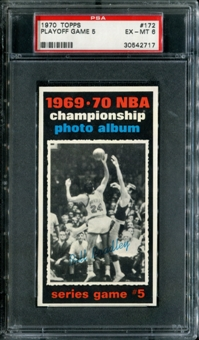 1970/71 Topps Basketball #172 Playoff Game 5 - Bill Bradley PSA 6 (EX-MT) *2717