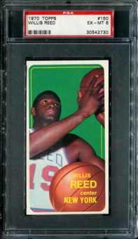 1970/71 Topps Basketball #150 Willis Reed PSA 6 (EX-MT) *2730