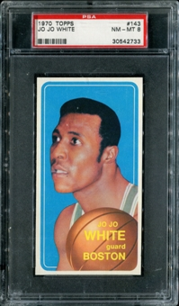 1970/71 Topps Basketball #143 Jo Jo White PSA 8 (NM-MT) *2733