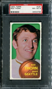 1970/71 Topps Basketball #167 Rod Thorn PSA 8 (NM-MT) *2739