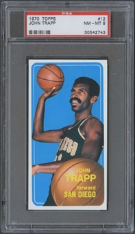 1970/71 Topps Basketball #12 John Trapp PSA 8 (NM-MT) *2743