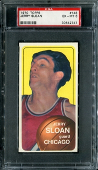 1970/71 Topps Basketball #148 Jerry Sloan PSA 6 (EX-MT) *2747