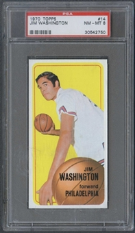 1970/71 Topps Basketball #14 Jim Washington PSA 8 (NM-MT) *2750
