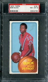 1970/71 Topps Basketball #161 Bob Quick PSA 8 (NM-MT) *2765