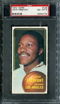 1970/71 Topps Basketball #126 John Tresvant PSA 8 (NM-MT) *2776