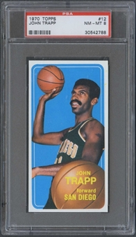 1970/71 Topps Basketball #12 John Trapp PSA 8 (NM-MT) *2788