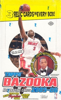 2005/06 Topps Bazooka Basketball Hobby Box