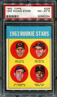 1963 Topps Baseball #228 Tony Oliva Rookie PSA 8 (NM-MT) *2234