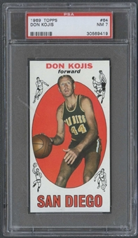1969/70 Topps Basketball #64 Don Kojis PSA 7 (NM) *9419