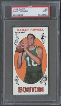1969/70 Topps Basketball #5 Bailey Howell PSA 7 (NM) *9568