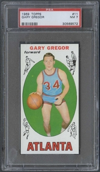 1969/70 Topps Basketball #11 Gary Gregor PSA 7 (NM) *9572