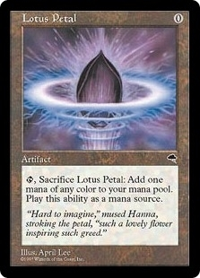 Magic the Gathering Tempest Single Lotus Petal SLIGHT PLAY (SP)
