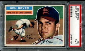 1956 Topps Baseball #14 Ken Boyer PSA 7 (NM) *5454