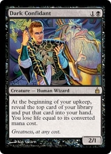 Magic the Gathering Ravnica Single Dark Confidant FOIL - SLIGHT PLAY (SP)