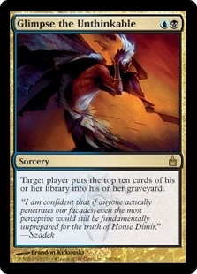 Magic the Gathering Ravnica Single Glimpse the Unthinkable - SLIGHT PLAY (SP)
