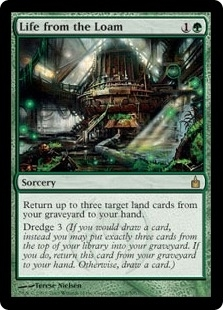 Magic the Gathering Ravnica Single Life from the Loam - NEAR MINT (NM)