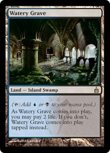Magic the Gathering Ravnica Single Watery Grave - NEAR MINT (NM)