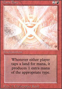 Magic the Gathering 3rd Ed (Revised) Single Mana Flare - NEAR MINT (NM)