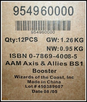 Axis & Allies Miniatures Booster Case (12 ct.)
