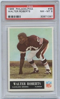1965 Philadelphia Football #38 Walter Roberts PSA 8 (NM-MT) *1097