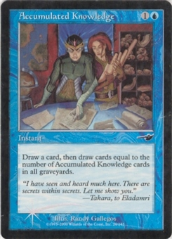 Magic the Gathering Nemesis Single Accumulated Knowledge Foil