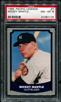 1988 Pacific Legends Baseball #7 Mickey Mantle PSA 8 (NM-MT) *1115