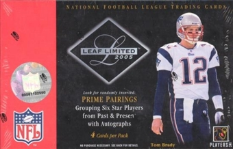 2005 Leaf Limited Football Hobby Box