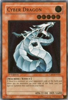Yu-Gi-Oh Cybernetic Revolution 1st Edition Cyber Dragon Ultimate Rare (CRV-015)