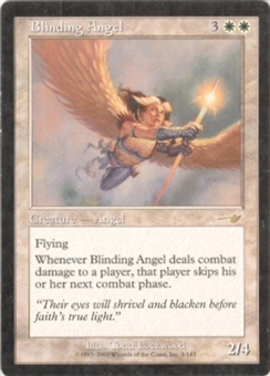 Magic the Gathering Nemesis Single Blinding Angel - SLIGHT PLAY (SP)