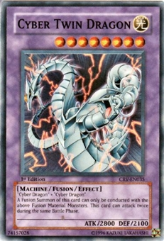 Yu-Gi-Oh Cybernetic Revolution Cyber Twin Dragon Super Rare
