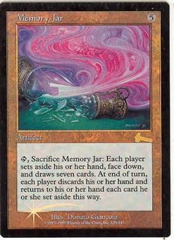 Magic the Gathering Urza's Legacy Single Memory Jar FOIL NEAR MINT (NM)