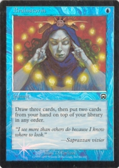 Magic the Gathering Mercadian Masques Single Brainstorm Foil