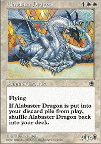 Magic the Gathering Portal 1 Single Alabaster Dragon - NEAR MINT (NM)