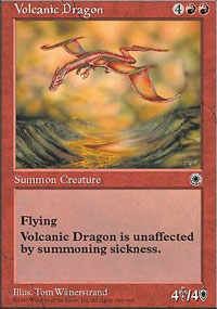 Magic the Gathering Portal 1 Single Volcanic Dragon UNPLAYED (NM/MT)