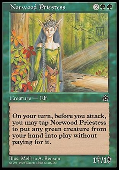Magic the Gathering Portal 2 Single Norwood Priestess UNPLAYED (NM/MT)