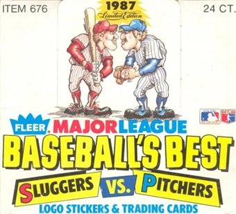 1987 Fleer Limited Edition Sluggers vs. Pitchers Baseball Wax Box