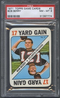 1971 Topps Football Game #2 Bob Berry PSA 8 (NM-MT) *7774