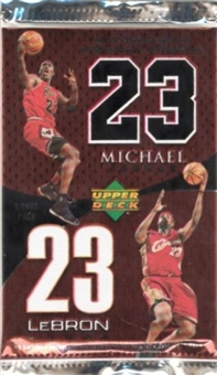 2005/06 Upper Deck LeBron James/Michael Jordan Box Topper Pack (10 Pack Lot)