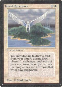 Magic the Gathering Beta Single Island Sanctuary - MODERATE PLAY (MP)