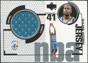 1998/99 Upper Deck Game Jerseys #GJ1 Glen Rice Turquoise