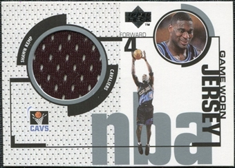 1998/99 Upper Deck Game Jerseys #GJ2 Shawn Kemp Black