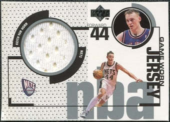 1998/99 Upper Deck Game Jerseys #GJ6 Keith Van Horn White