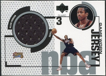 1998/99 Upper Deck Game Jerseys #GJ7 Allen Iverson