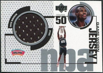 1998/99 Upper Deck Game Jerseys #GJ8 David Robinson Black