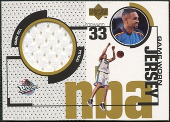 1998/99 Upper Deck Game Jerseys #GJ11 Grant Hill White