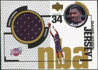 1998/99 Upper Deck Game Jerseys #GJ12 Hakeem Olajuwon